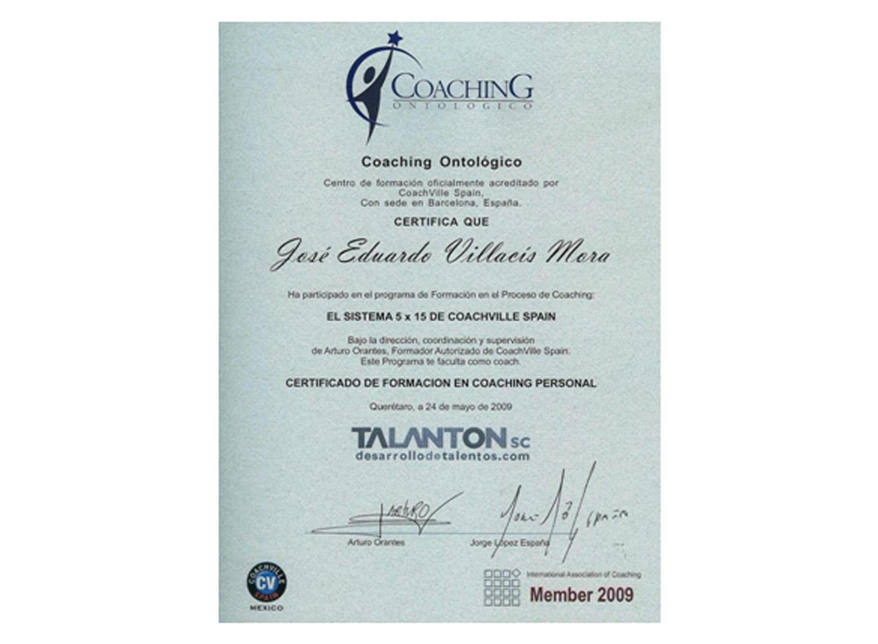 certificado coaching ontologico