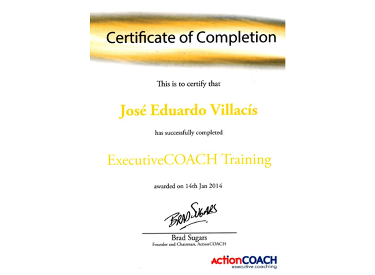 certificado executive coach training
